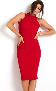 Sukienka Ivon dopasowana bez rękawów z bawełny