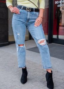 Niebieskie jeansy Fason w stylu casual z bawełny