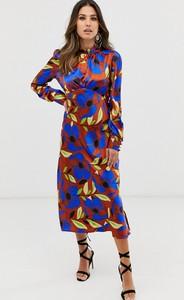 Sukienka Asos Design z długim rękawem z golfem