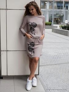 Różowa spódnica POTIS & VERSO z dzianiny