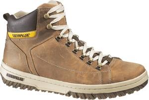 Brązowe buty zimowe Caterpillar w stylu casual sznurowane