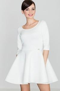 Sukienka LENITIF rozkloszowana z okrągłym dekoltem