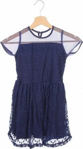 Granatowa sukienka dziewczęca Mkids