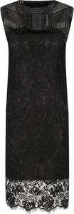 Sukienka Guess by Marciano bez rękawów prosta z okrągłym dekoltem