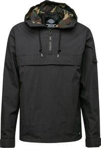 Brązowa kurtka Dickies krótka z bawełny w militarnym stylu