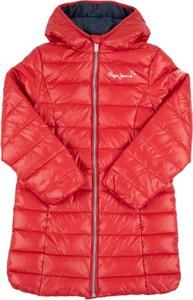Czerwony płaszcz dziecięcy Pepe Jeans