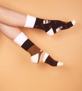 Brązowe skarpetki Franco Socks dla dziewczynek