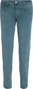 Niebieskie jeansy Blue Fire z bawełny