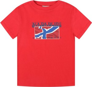 Czerwona koszulka dziecięca Napapijri