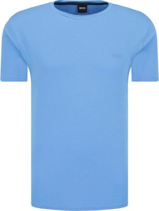 Niebieski t-shirt BOSS Casual z krótkim rękawem