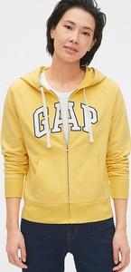 Żółta bluza Gap z bawełny w stylu casual krótka