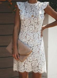 Sukienka Sandbella z okrągłym dekoltem mini