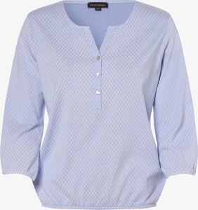 Niebieska bluzka Franco Callegari z dekoltem w kształcie litery v
