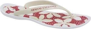 Klapki Armani Jeans z płaską podeszwą