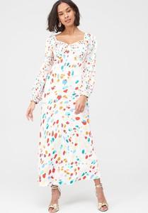 Sukienka V by Very z długim rękawem z satyny