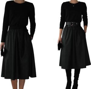 Czarna sukienka Mm Fashion z bawełny midi