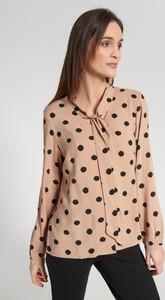 Brązowa bluzka QUIOSQUE z długim rękawem