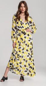 Żółta sukienka Renee w stylu boho maxi