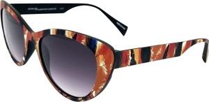 Brązowe okulary damskie Italia Independent