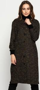 Czarny płaszcz Rabarbar z tkaniny