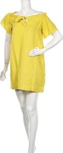 Żółta sukienka Whistles z krótkim rękawem