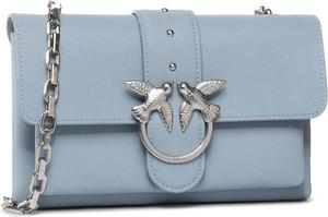 Niebieska torebka Pinko na ramię mała