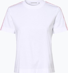 T-shirt Calvin Klein z okrągłym dekoltem w stylu casual z bawełny