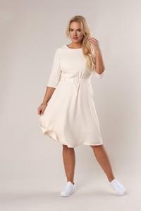 Sukienka Ptakmoda.com z długim rękawem midi