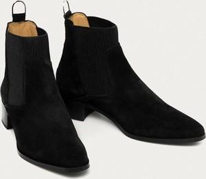 Czarne botki Gant