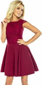 Sukienka Moda Dla Ciebie z okrągłym dekoltem rozkloszowana