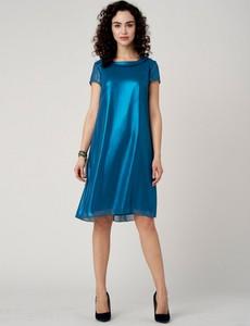 Sukienka POTIS & VERSO z krótkim rękawem z tkaniny
