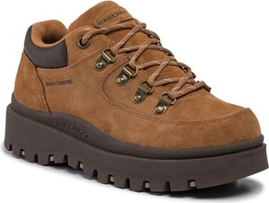 Buty trekkingowe Skechers z płaską podeszwą sznurowane