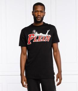 Czarny t-shirt Philipp Plein z bawełny z krótkim rękawem