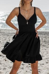 Sukienka Chiara Poland na ramiączkach z dekoltem w kształcie litery v