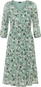 Sukienka bonprix z dekoltem w kształcie litery v z długim rękawem