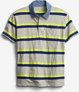 Koszulka dziecięca Gap w paseczki dla chłopców z bawełny
