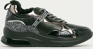 Czarne buty sportowe Liu-Jo sznurowane na platformie
