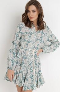 Sukienka born2be mini w stylu casual koszulowa