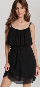 Czarna sukienka Renee na ramiączkach w stylu casual