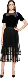 Czarna spódnica L'AF midi z tiulu