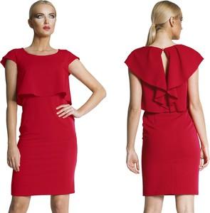 Sukienka Camill Fashion midi z krótkim rękawem