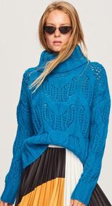 Turkusowy sweter Reserved