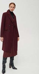 Fioletowy płaszcz Reserved w stylu casual z wełny