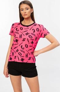 T-shirt Moschino z okrągłym dekoltem z krótkim rękawem