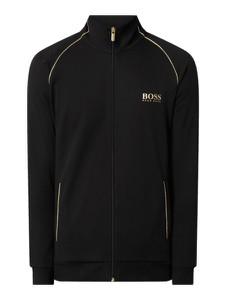 Czarna kurtka Hugo Boss z bawełny krótka