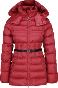 Czerwona kurtka Pinko ze skóry ekologicznej krótka