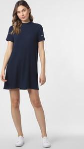 Granatowa sukienka Tommy Jeans w stylu casual z krótkim rękawem sportowa