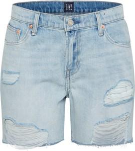 Niebieskie szorty Gap z jeansu w street stylu