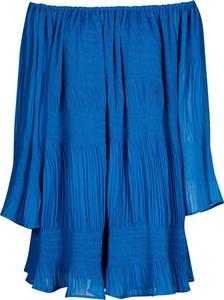 Niebieska sukienka Swing Polish Fashion Concept w stylu boho