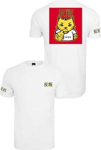T-shirt Mister Tee z nadrukiem z krótkim rękawem w młodzieżowym stylu